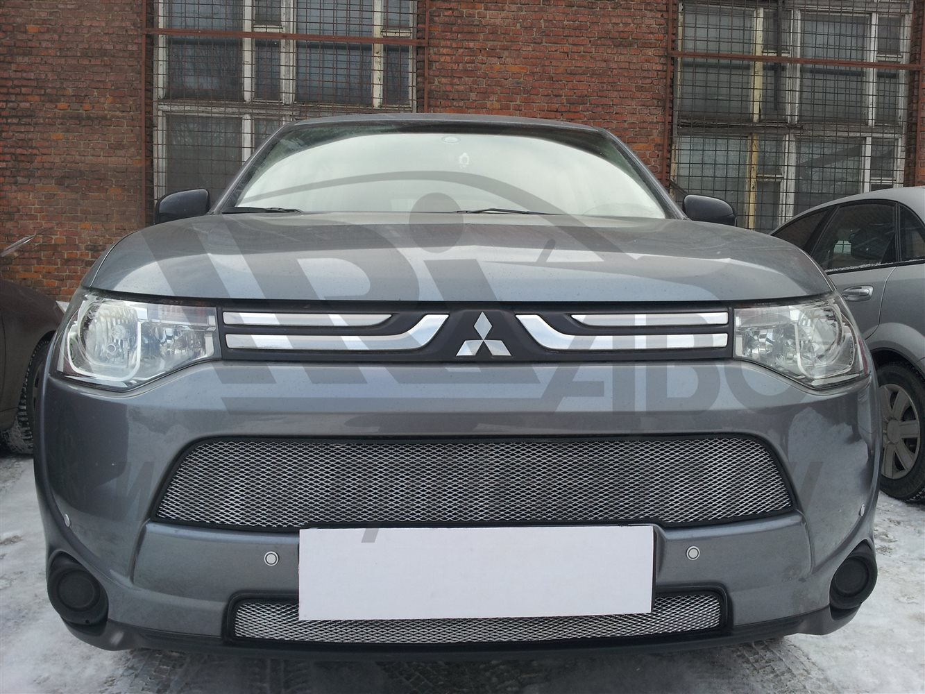 'Защита радиатора Mitsubishi Outlander 2012-2015 (Chrome)'