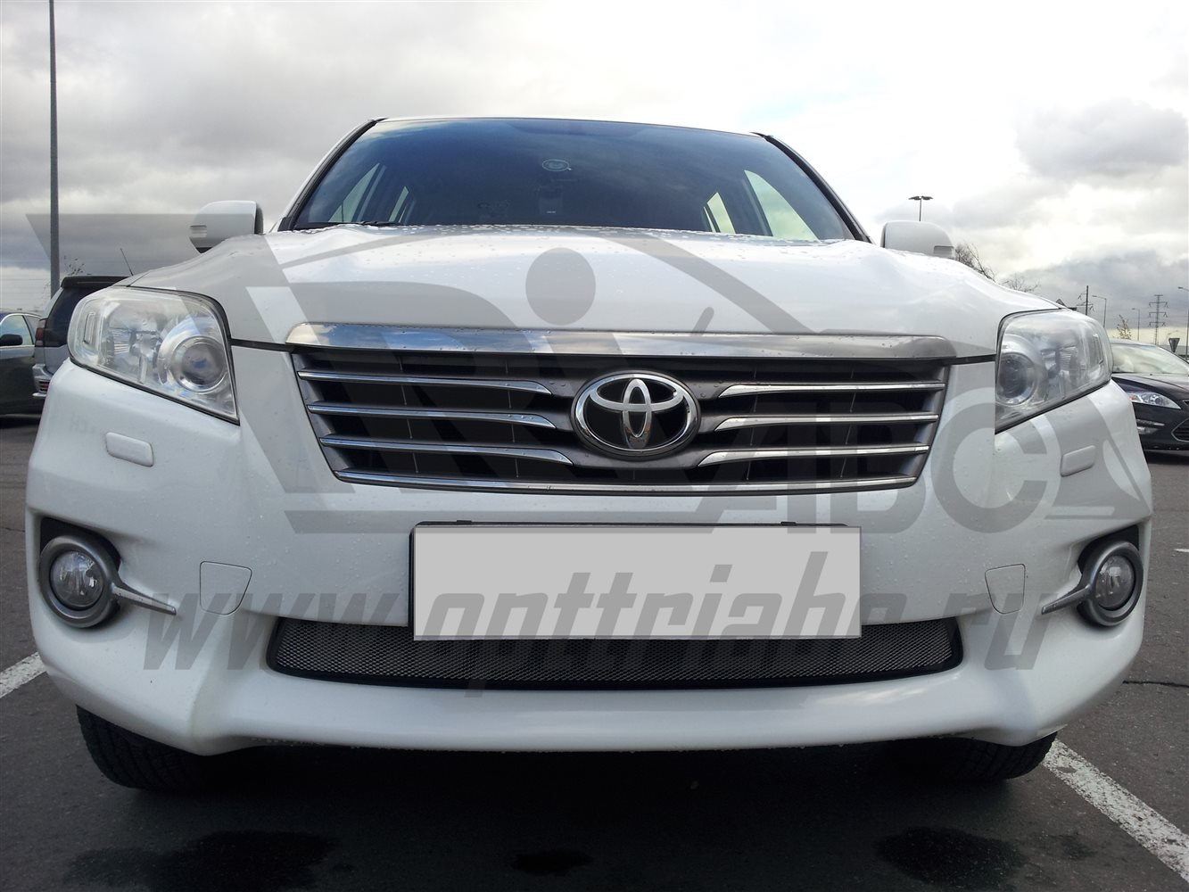 Защита радиатора Toyota RAV4 2010-2013 (Chrome)